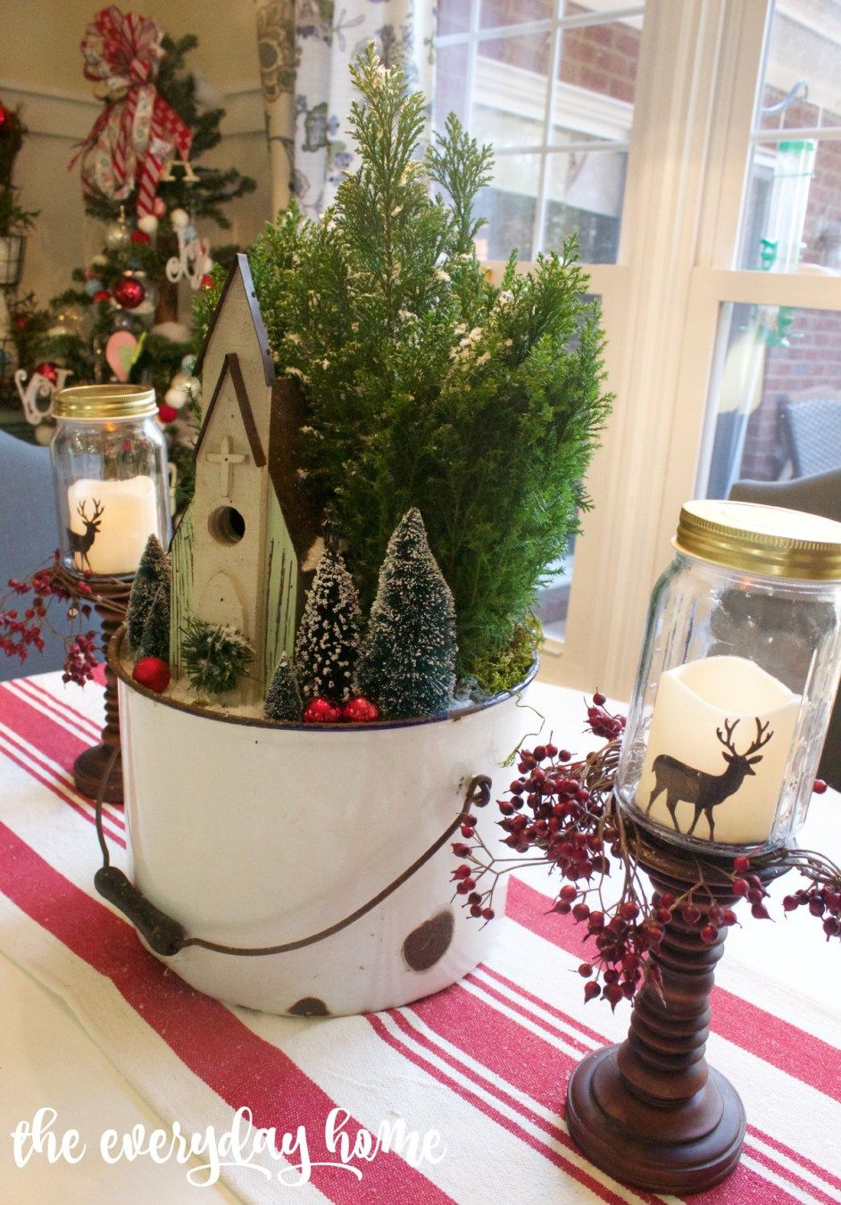 Little Church in the Woods Christmas Centerpiece | The Everyday Home