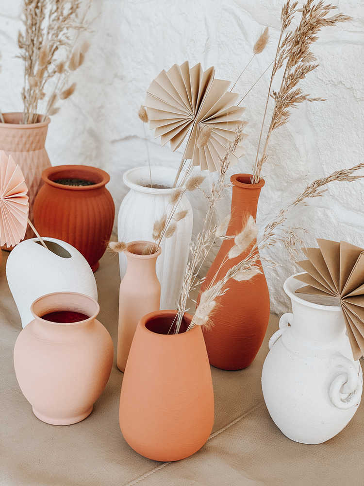 Up-cycled Vases: Trash to Terra-cotta