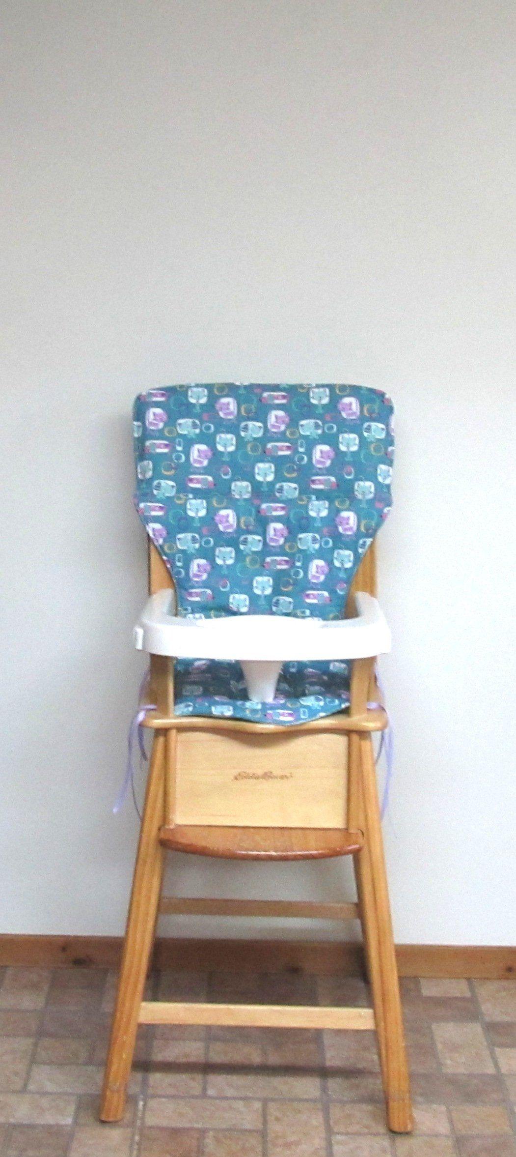 Wooden High Chair Pad Eddie Bauer Cotton Replacement Cushion