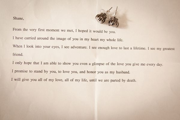 Sweetest Love Letter From Wife To Husband On Their Wedding Day