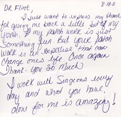 testimonials scottsdale plastic surgeon patti flint houston clear - thank you letter to doctor