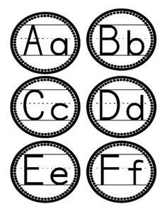 Black And White Printable Word Wall Letters Google Search School
