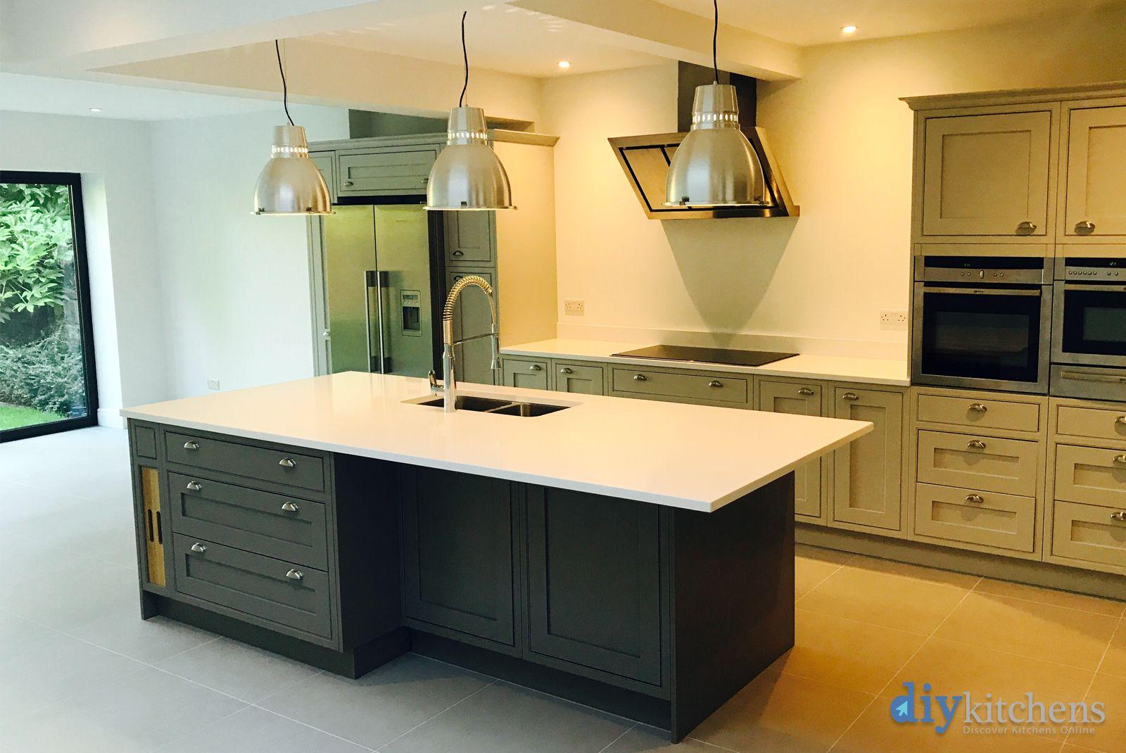 An Innova Helmsley Bespoke Painted Inframe Kitchen Diy