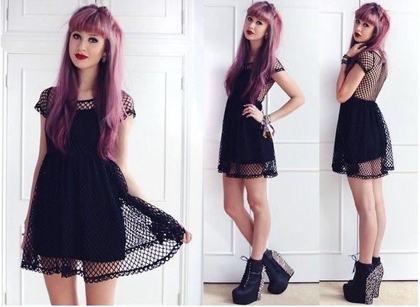 new 2014 punk rock fashion gothic summer dress Nasty gal motel rocks mesh  sexy cutout racerback high waist dress women clothes a2b966fe4504