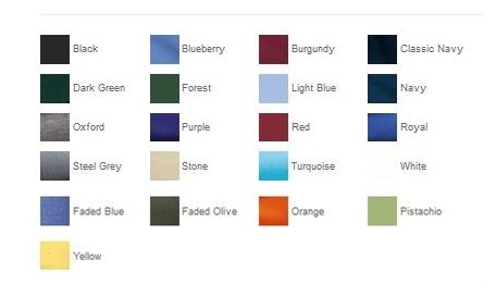 Port Authority K420 Heavyweight Cotton Pique Polo Color Chart