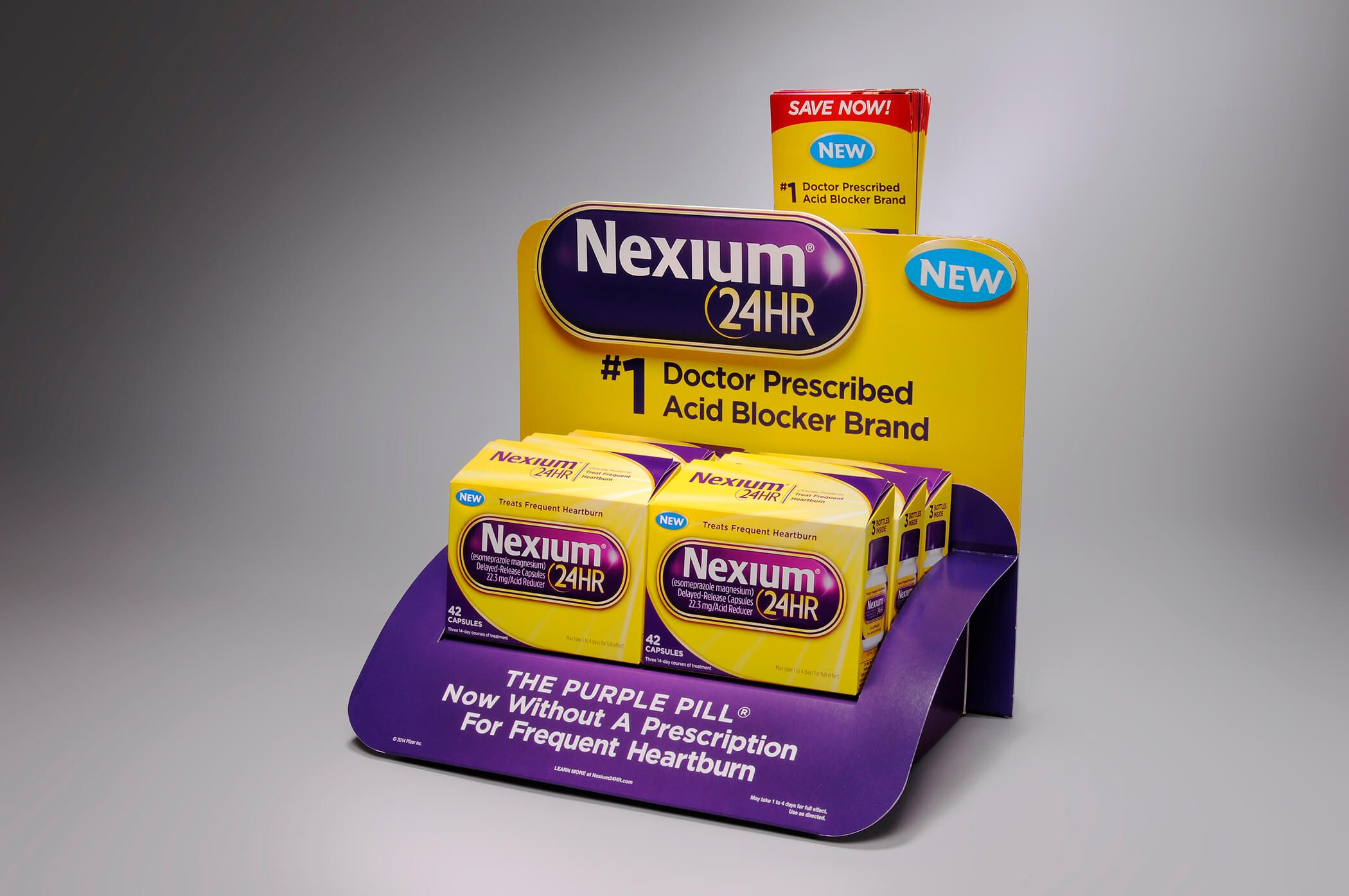 Nexium Product Retail Display Countertop Display Cardboard