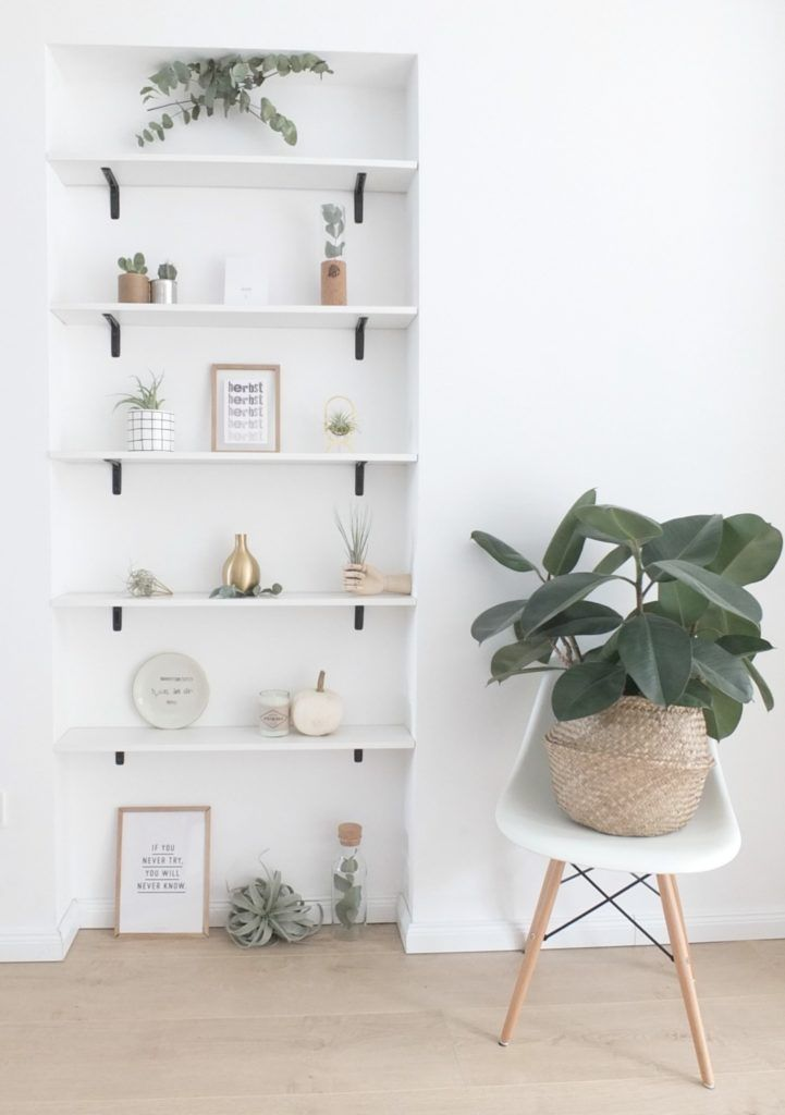 dekoration eine nische als wandregal und eine kleine. Black Bedroom Furniture Sets. Home Design Ideas