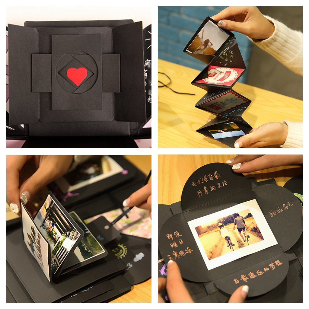 Kicpot Creative Explosion Gift Box Love Memory Diy Photo