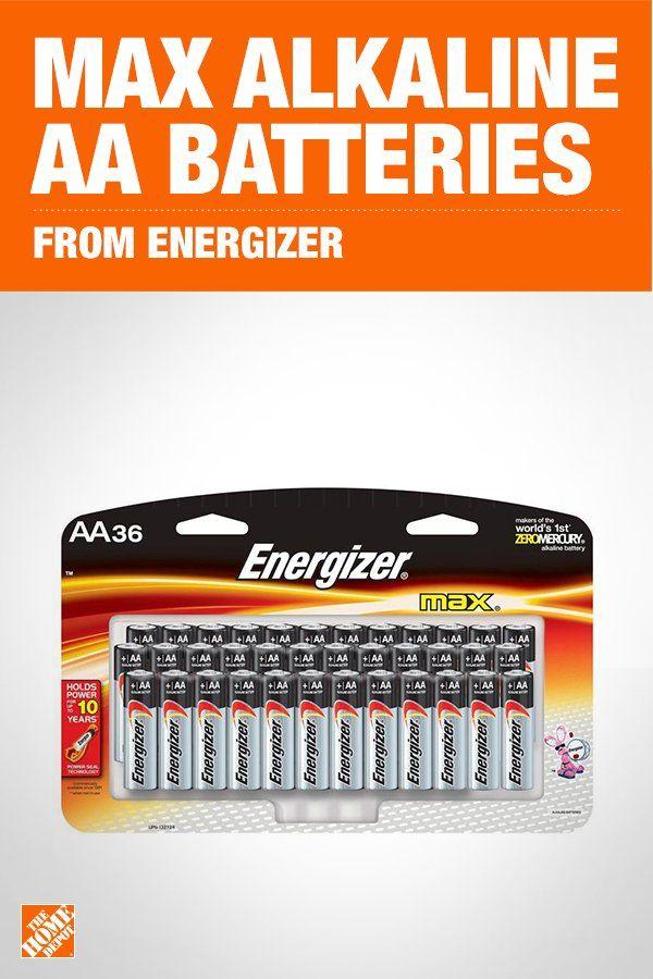 Energizer Max Aa Batteries 36 Pack Double A Alkaline Batteries E91sbp36h The Home Depot Energizer Alkaline Battery Energizer Battery
