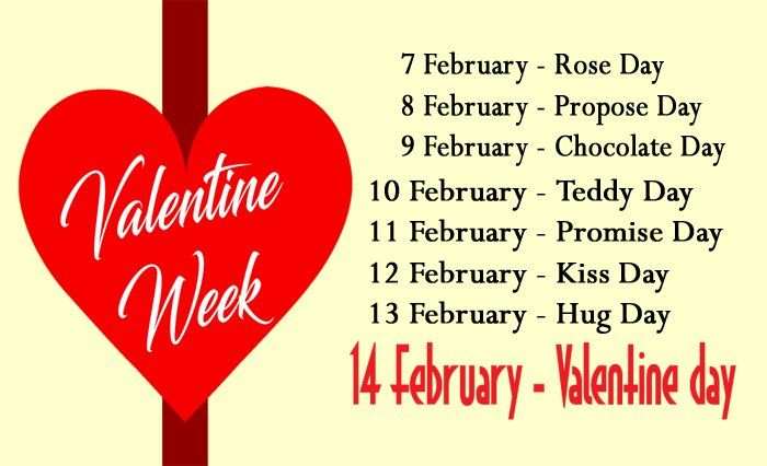 Valentine Week List 2017 With Date Sheet Image Days Meaning