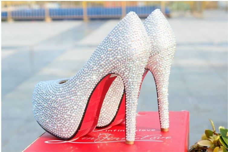 Best Fashion Shoes For Women Wedding Shoes Pumps Prom Shoes High Heels Sparkly Silver High Heels