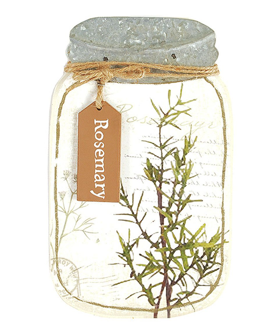 Look at this #zulilyfind! Rosemary Jar Sign by Blossom Bucket #zulilyfinds