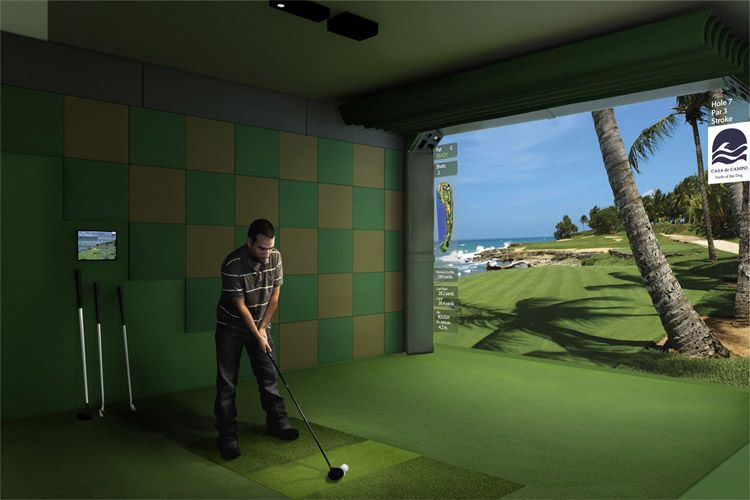 Acoustical/High Impact Panels In Golf Simulator Room