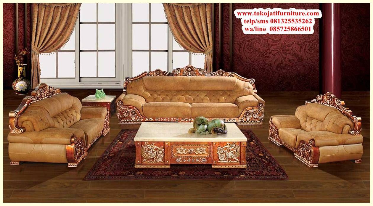 Set Sofa Tamu Jati Desain Sofa Mewah Ahli Kursi Sofa