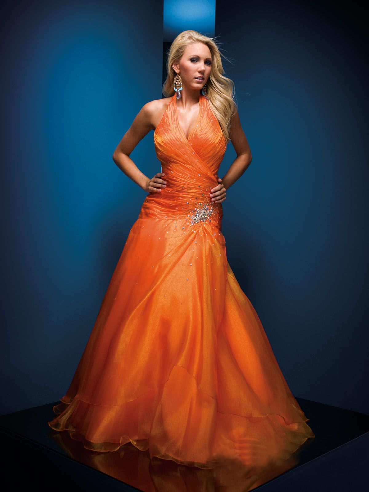 Beautiful! orange gown/dress | Beautiful Gowns | Pinterest | Gowns ...