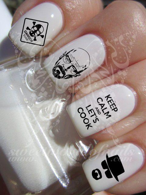 nail art breaking bad walter white