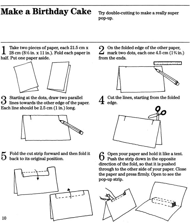 pop up book instructions