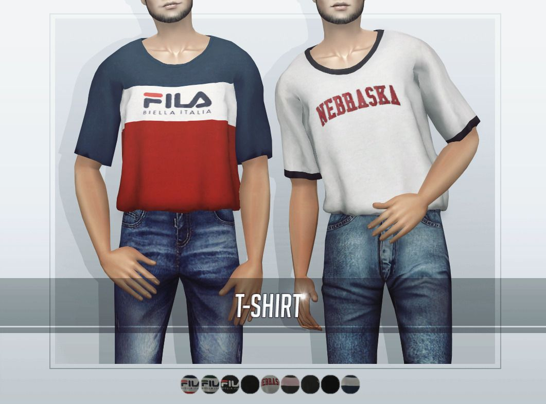 E Neillan Tops The Sims 2 Am Tuck In Shirts 11 Colors Sims 4 Clothing Sims 4 Male Clothes Sweatshirt Short [ 786 x 1061 Pixel ]