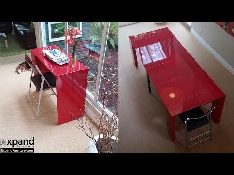 Junior Giant Edge - Console Extending Table Space Saver | Expand Furniture - YouTube