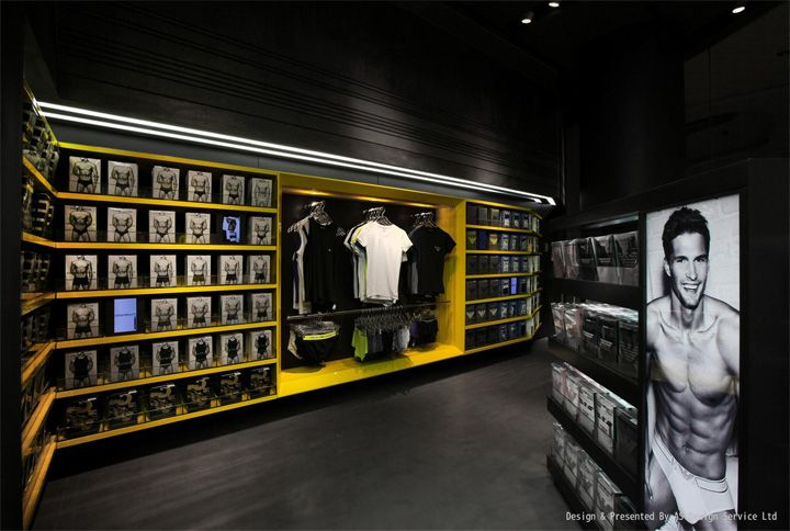 Um mens underwear store as design shenzen 04 um mens - Men s clothing store interior design ideas ...