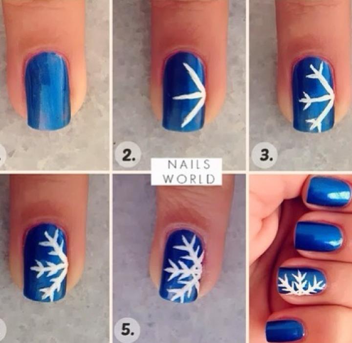 Easy snowflake nails for Christmas - Pin By Auburn Rising On Nail Art Pinterest Hair Makeup, Easy
