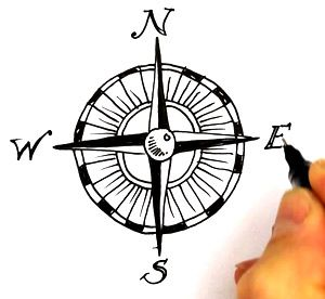 Treasure Map Compass - ClipArt Best | Sea Turtle Tattoo ...