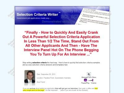 Selection Criteria Writer - Government job applications made easy - government job resume