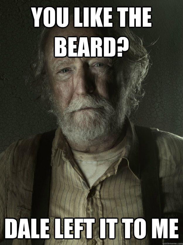Herschel Got A Beard Walking Dead Funny The Walking Dead Walking Dead Memes