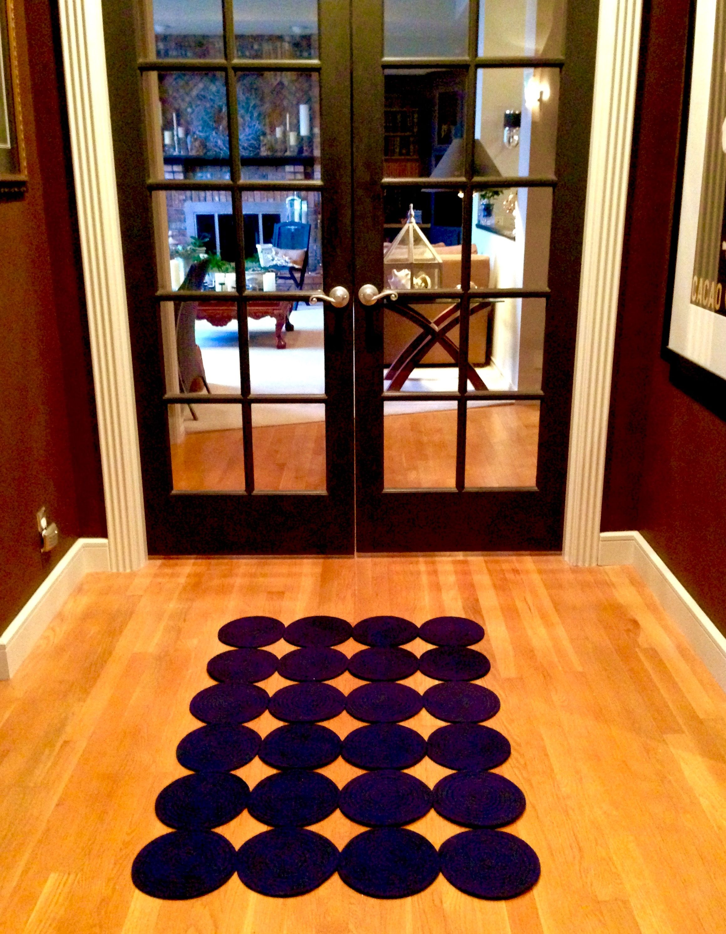 Make this rug for 12 from dollar tree trivets the diy video is dollar stores doublecrazyfo Image collections