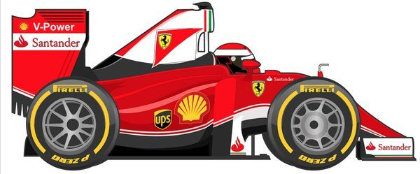 Ferrari Ferrari Car Cartoon Ferrari F1