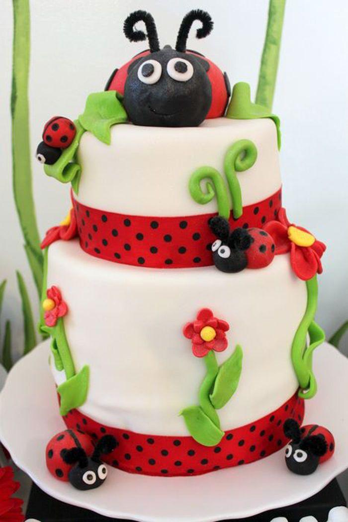 Superb Lovebug Ladybug Birthday Party Ideas Planning Idea Supplies Cake Funny Birthday Cards Online Aeocydamsfinfo