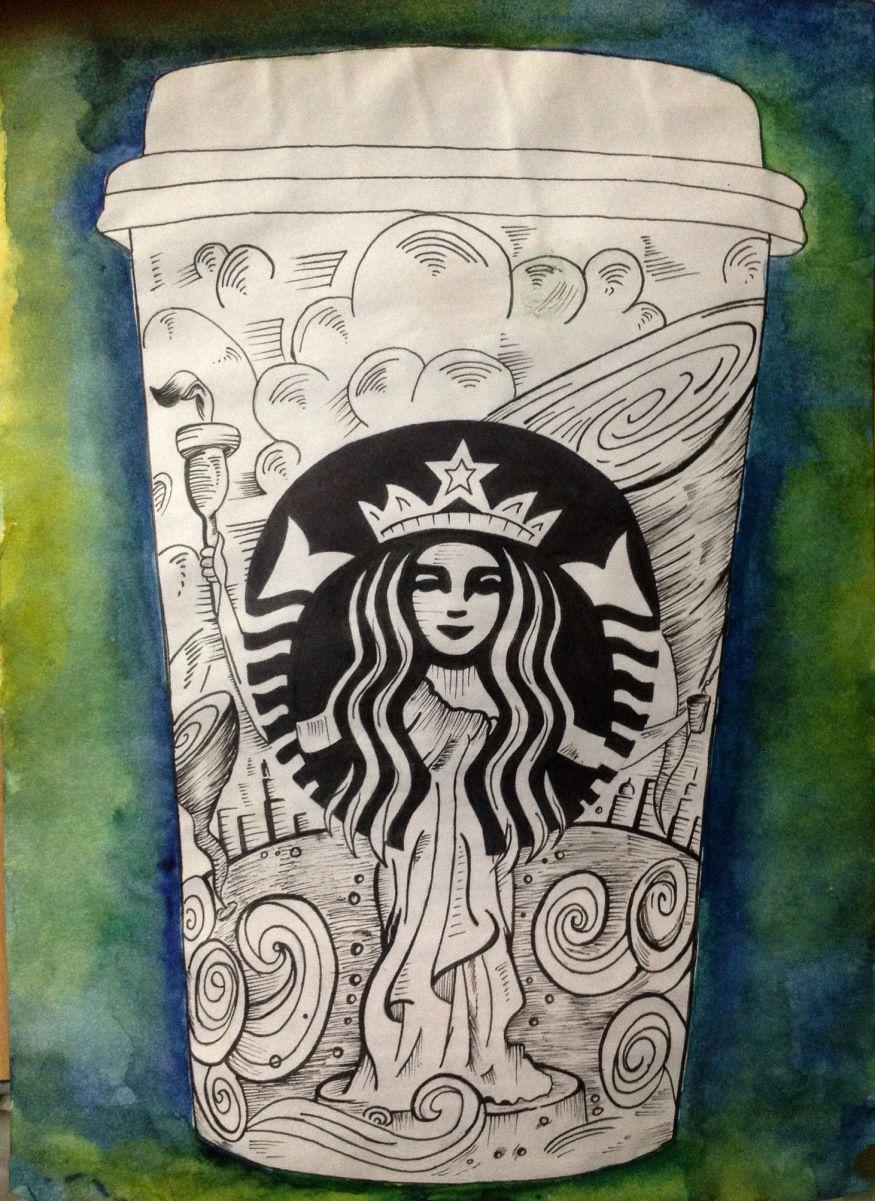 Starbucks Cup Art Starbucks Art Cup Art Starbucks Cup Art