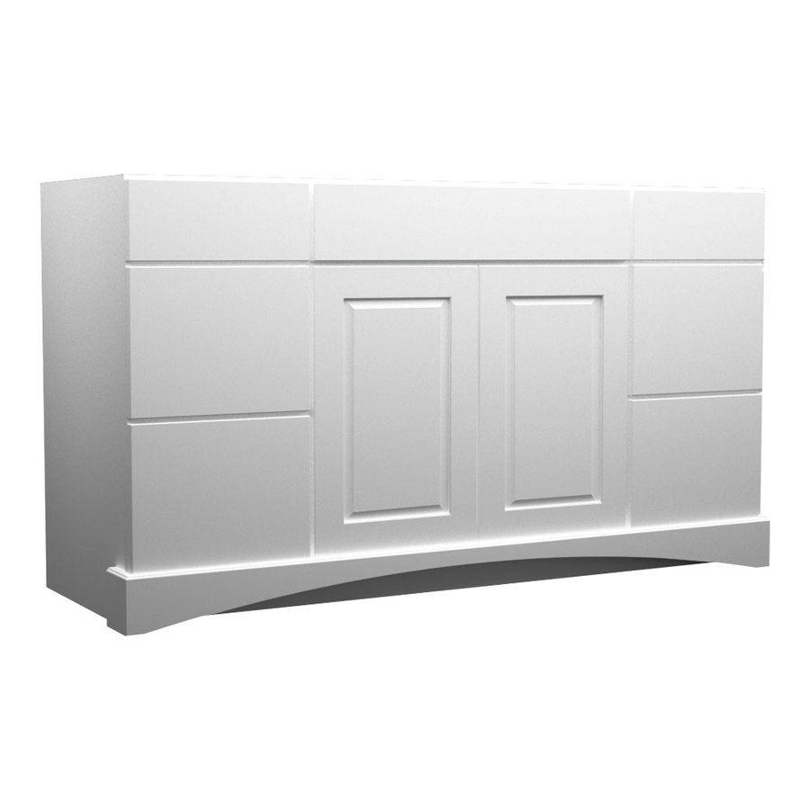 $874 - KraftMaid Summerfield North Bay White Casual Bathroom Vanity ...