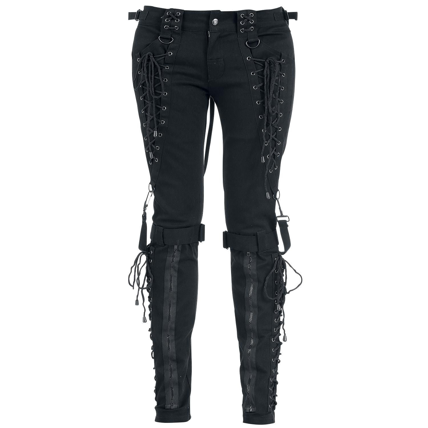Broken Puppet Trousers Pants by Gothicana by EMP