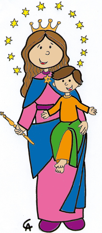 Maria Auxiliadora Con Imagenes Figuras Religiosas Maria