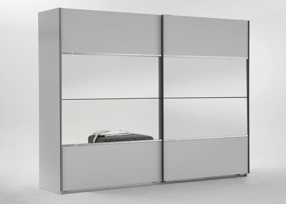 Schwebetürenschrank spiegelfront  Schwebetürenschrank 225,0 cm Weiß Spiegel 5025. Buy now at https ...