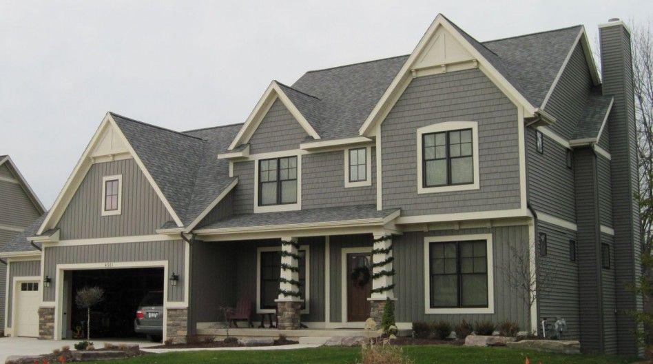 Exterior Elegant Home And Exterior Decoration With Grey Board Impressive Exterior Siding Contractors Concept Decoration