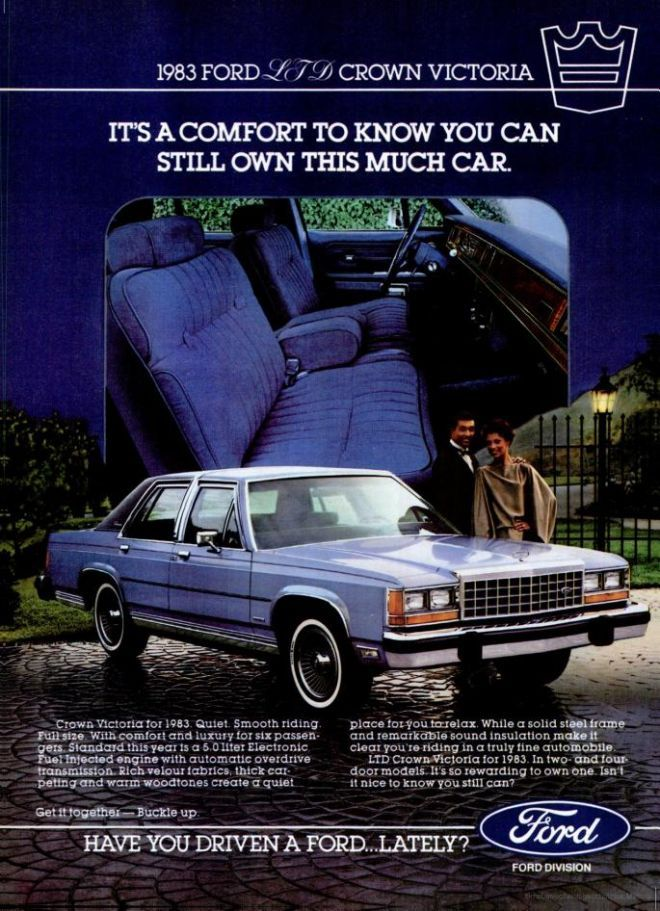 Ford Crown Victoria Ad Car Advertising Automobile Advertising Ford Ltd