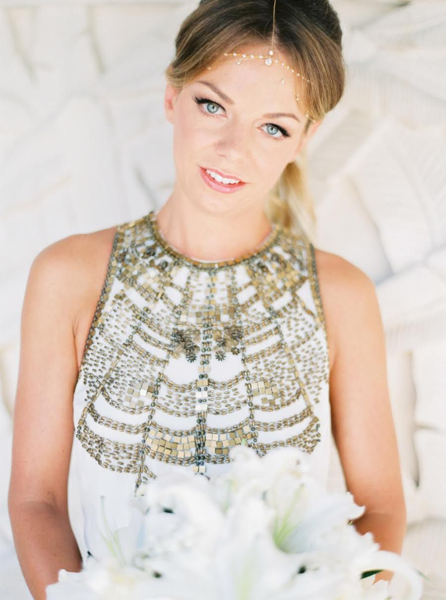 Dakota Pearl Dainty Halo in Gold | Headpieces, Weddings and Unique ...