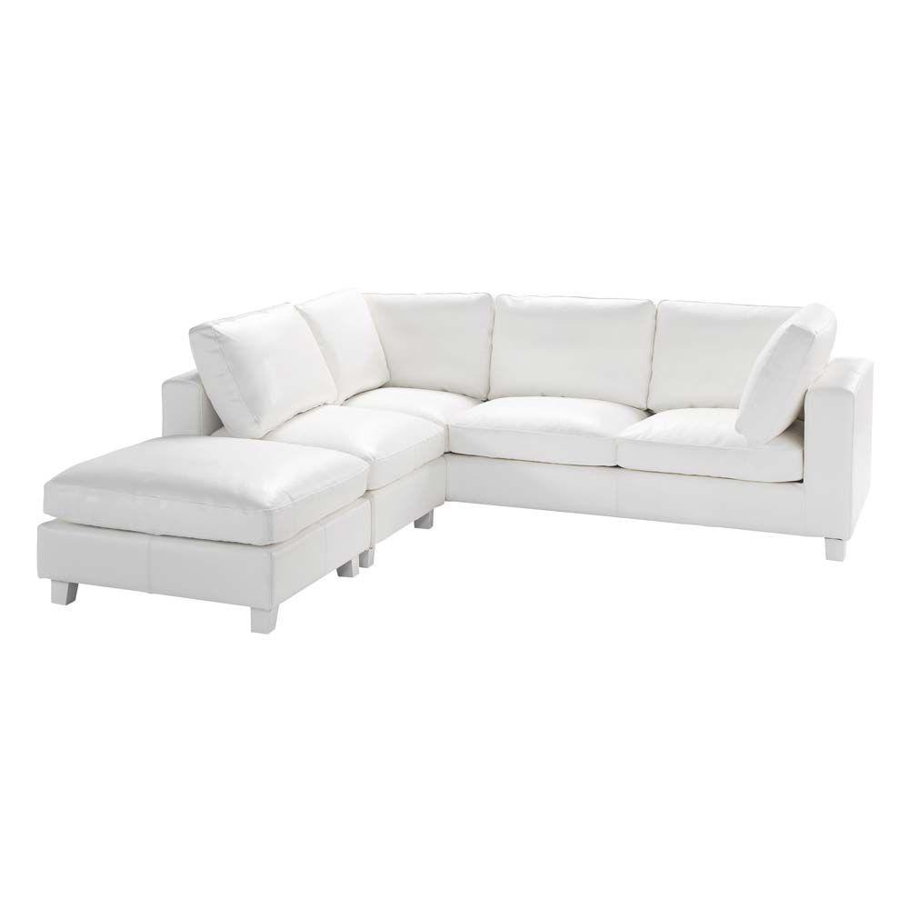 Ledersofa weiß  Ledersofa weiß 5-Sitzer Ecksofa KENNEDY € $1190 | just White ...