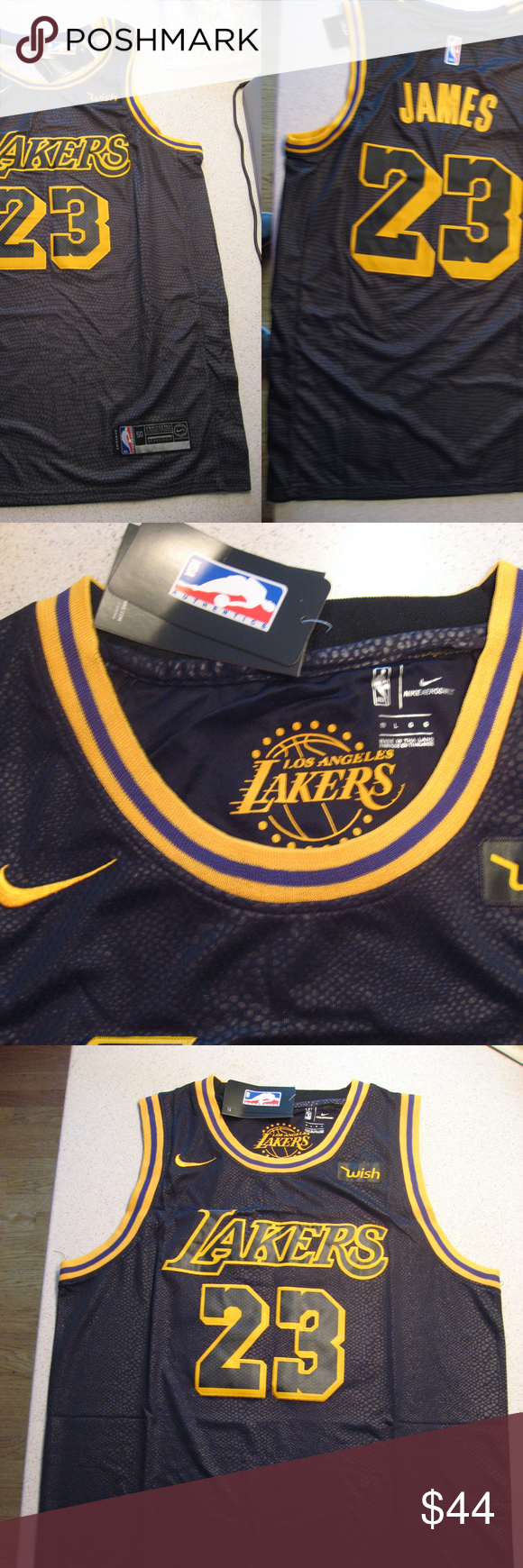 low priced ac3fa 9a010 Lebron James Lakers Black Swingman Wish Jersey New Lebron ...