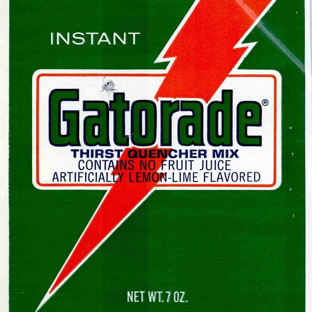 Gatorade Lightning Bolt Registered As Trademark On This Day In 1976 Gatorade Sports Drink Brand Trademark Logo History Gatorade Drinks Logo Logo Quiz
