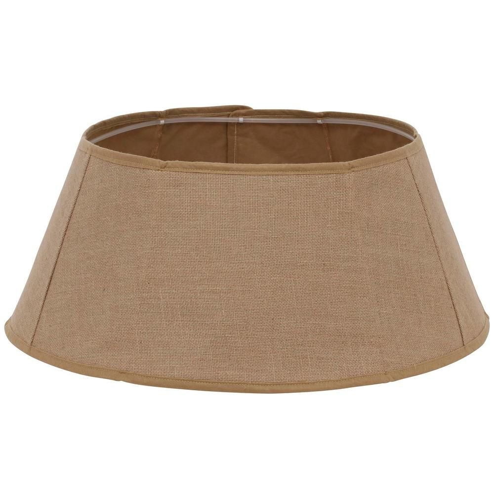 Home Accents Holiday 26 In Holiday Traditions Burlap Tree Stand Collar 2266884 1hop The Home Depot Burlap Trees Tree Collar Tree Stand