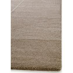 benuta Essentials Kurzflor Teppich Narvik Taupe 80×150 cm – Moderner Teppich für Wohnzimmer benuta