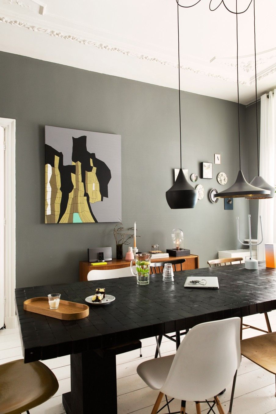 mur kaki a la haye d co inspirations pinterest couleurs mur et manger. Black Bedroom Furniture Sets. Home Design Ideas