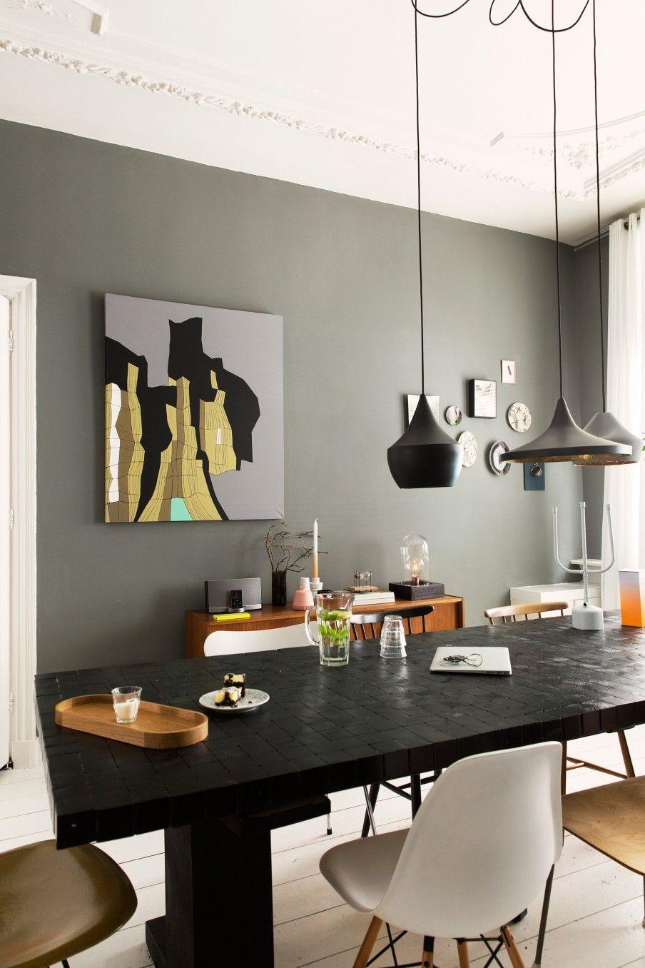 mur kaki a la haye d co inspirations pinterest couleurs mur et manger. Black Bedroom Furniture Sets. Home Design Ideas
