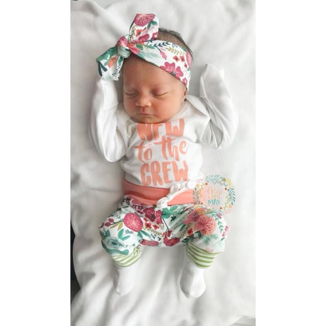 The sweetest baby girl newborn set!! Our New to the Crew onesie perfectly pairs with our coral floral newborn set! #entrepreneur #goodvibes #handcrafted #womeninbusiness #girlboss #shop #shopping #motivated #mompreneur #handmade #newborn #helloworld #pregnancy #promote #goinghomeset #allnatural #boho #photography #bebold #igkiddies #sale #smile #madewithlove #like4like #supportsmallbusiness #shopsmall