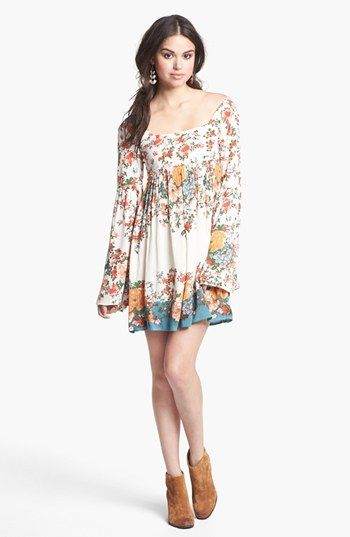 Free People 'Snap Out of It' Print Minidress available at #Nordstrom