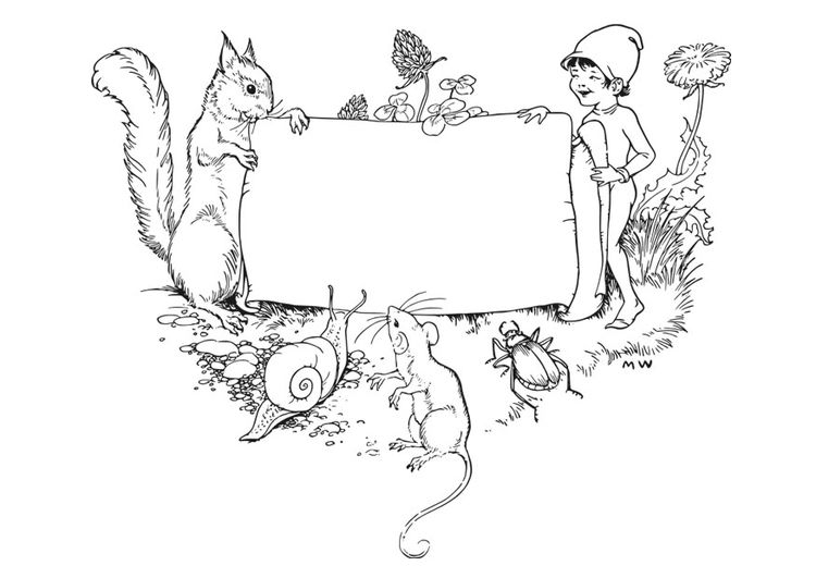 coloring page frame  forest  img 27925  graphics fairy