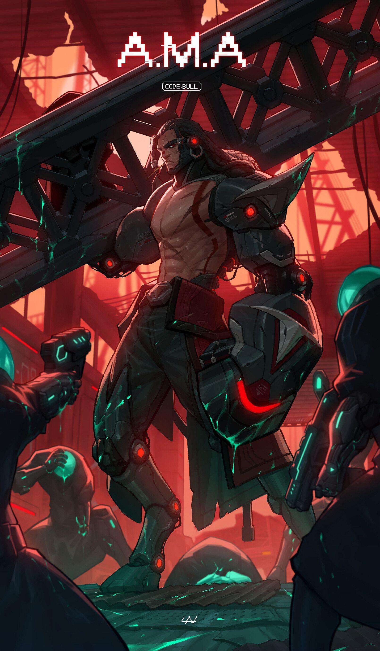 ArtStation BULL, Lan Space anime, Cyberpunk art